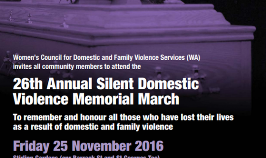Annual Silent Domestic Violence March