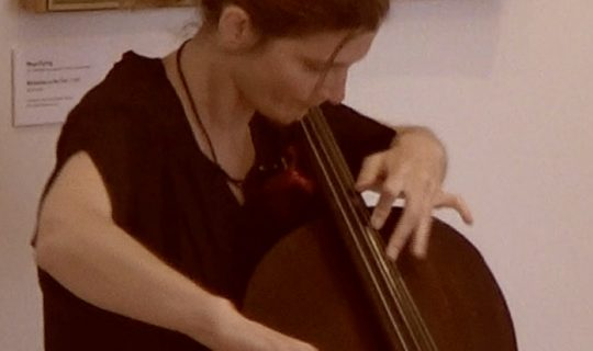 Cellist on Stage – Cellist Adi Sappir & Playwright Peta Tait
