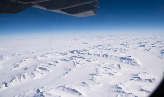 Flying to the South Pole