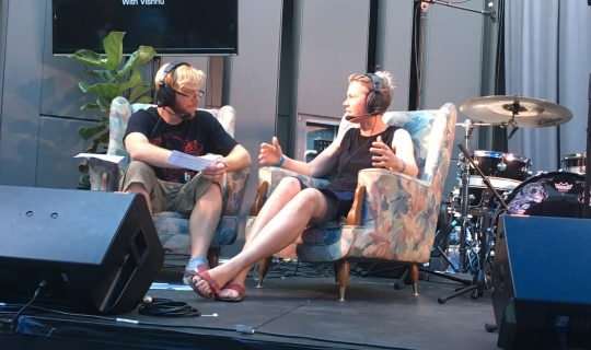 The Perth Writer's Festival Courtyard Sessions live on Drive