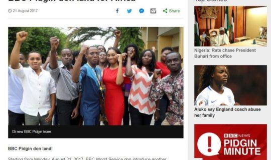 Talk the Talk: West African Pidgin English
