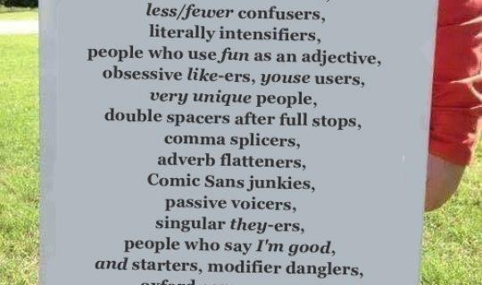Talk the Talk: Grammar Day