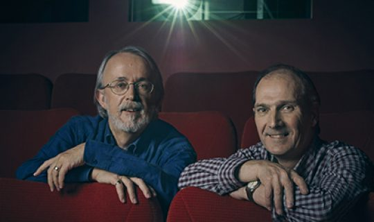Early Men: Aardman co-founders; Peter Lord & David Sproxton