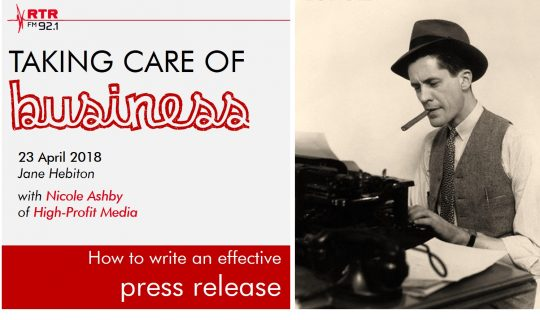 Taking Care of Business: Media Releases