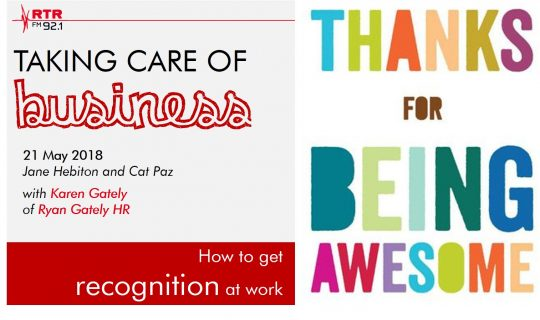 Taking Care of Business: How to get recognition in the workplace