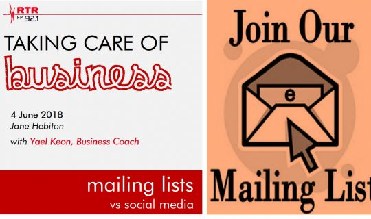 Taking Care of Business: Mailing Lists vs Social Media