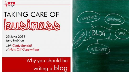 Taking Care of Business: blogging