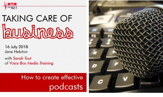Taking Care of Business – Podcasting