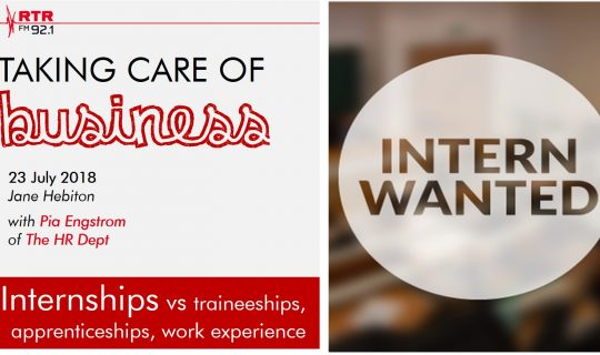 Taking Care of Business: internships
