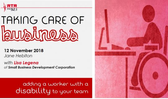 Taking Care of Business: workers with disabilities with Lisa Legena from SBDC