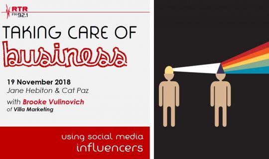 Taking Care of Business: using social media influencers effectively