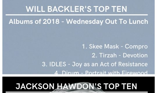 Jackon and Will's Top 10 Albums of 2019 – Out To Lunch Wednesday