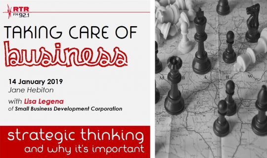 Taking Care of Business: strategic thinking