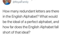 Talk the Talk: A Perfect Alphabet (or, The Royal Tweet)