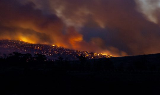 Tasmania Bushfires Releasing Mercury