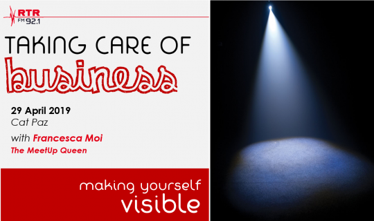 Taking Care of Business: becoming visible