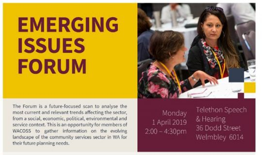 WACOSS 2019 Emerging Issues Forum