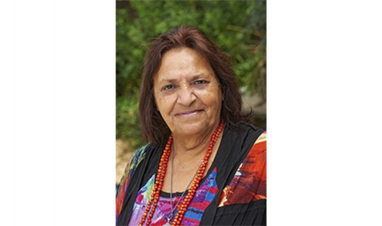Aboriginal Elder Josie Boyle speaking with the Moorditj Mag Men