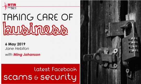 Taking Care of Business: Facebook scams & security
