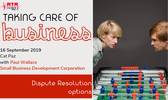 Taking Care of Business: SBDC Dispute Resolution Service in 2019