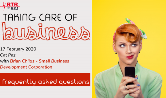 Taking Care of Business: SBDC – Frequently Asked Questions