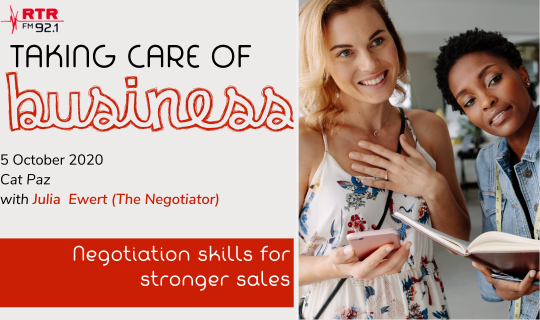Taking Care of Business: Negotiation skills for stronger sales